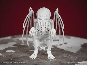 Cthulhu Skeleton in White Natural Versatile Plastic
