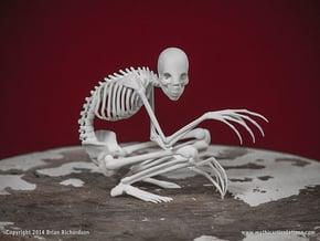The Rake Skeleton in White Natural Versatile Plastic