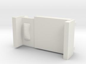Bed in White Natural Versatile Plastic