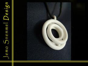 Mobious ball pendant in White Processed Versatile Plastic