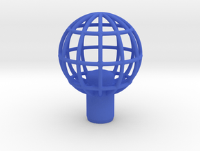"Shift Knob Globe 12x1.25 2"" in Blue Processed Versatile Plastic"