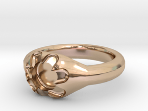 Scalloped Ring (size 7.5) in 14k Rose Gold Plated Brass