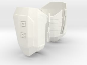 1:6 thigh armor polish WSF version in White Processed Versatile Plastic