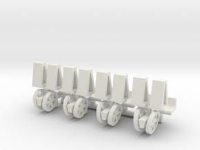 1/64 Mechanical Transplanter, set of 4 in White Natural Versatile Plastic