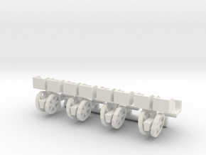 1/64 Transplanter with plant bins, set of 4 in White Natural Versatile Plastic