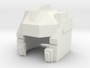Robhelmet: True Aim in White Natural Versatile Plastic