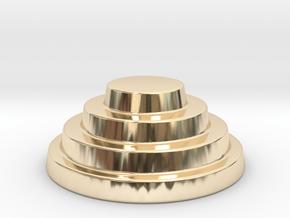 Devo Hat   15mm diameter miniature / NOT LIFE SIZE in 14k Gold Plated Brass