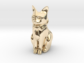 Business Cat in 14K Yellow Gold