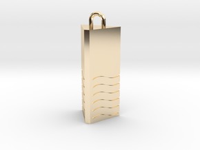 Fifth Element - Water in 14K Yellow Gold