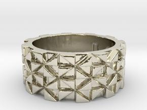 Futuristic Ring Size 4.5 in 14k White Gold