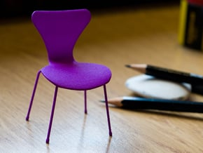 Series 7 Style Chair 1/12 Scale in Purple Processed Versatile Plastic