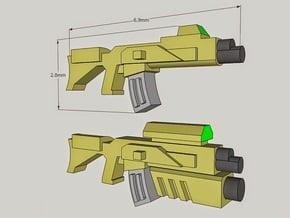 """Sculptor's Pack"" 15mm AK-X Sci-Fi Rifles (12 pcs) in Smoothest Fine Detail Plastic"