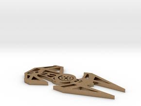 Star Wars inspired TIE Interceptor necklace (TIE F in Natural Brass