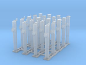 1/64 Hitch Jack  Set of 24 in Smooth Fine Detail Plastic