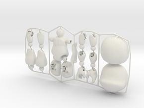 Male CAP-Figure 2015 in White Natural Versatile Plastic