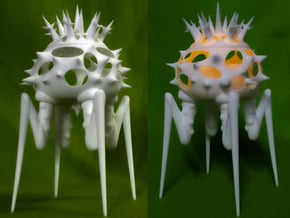 Biomorphic Object #15- Lantern in White Natural Versatile Plastic