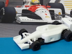 HO F1 1991 MP4/6 Slot Car Body in White Processed Versatile Plastic