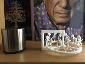 Venetian Plague Doctor Zoetrope in White Natural Versatile Plastic