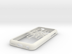 Moscow Metro map iPhone 5c case in White Natural Versatile Plastic