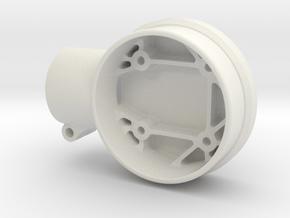 Gimbal motor mount for LD-Power or Turnigy HS4008G in White Natural Versatile Plastic
