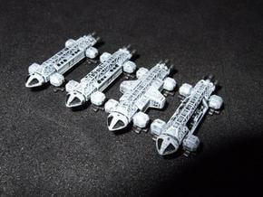 Spacer1999 Transports 1/1000 Scale in White Natural Versatile Plastic