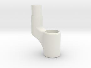 Jodocast's Nerf AK-47 Gas tube Splitter in White Natural Versatile Plastic