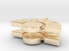 IMD earrings in 14k Gold Plated Brass