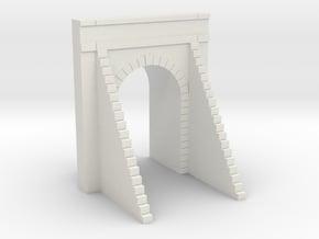 N-Scale SP-Style Tunnel Portal - Oakridge East in White Natural Versatile Plastic