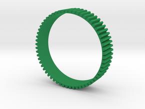 Stripes pattern in Green Processed Versatile Plastic