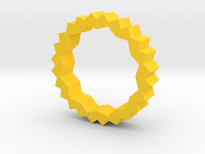 Angles in Yellow Processed Versatile Plastic