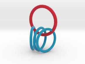 4 rings  in Full Color Sandstone