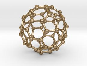 C60 Fullerene  in Polished Gold Steel