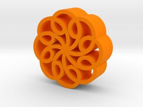 Abstract star flower in Orange Processed Versatile Plastic