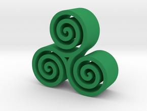 3 Spirals in Green Processed Versatile Plastic