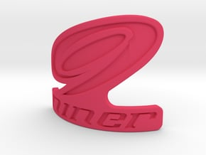 Niner bicycle front logo in Pink Processed Versatile Plastic