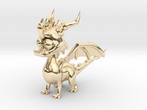 Spyro the Dragon - 5cm Tall in 14K Yellow Gold