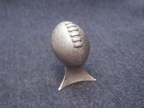 Fantasy Football League Trophy in Polished Bronzed Silver Steel