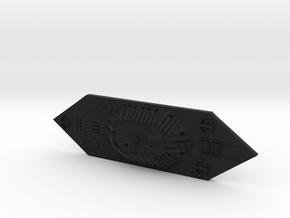 1/600 CSS Mississippi in Black Natural Versatile Plastic