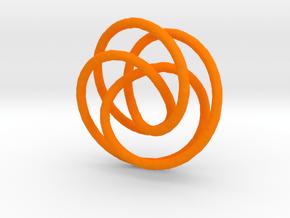3D doodle in Orange Processed Versatile Plastic