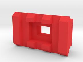 3 Slots Rail For Tripod Screw in Red Processed Versatile Plastic