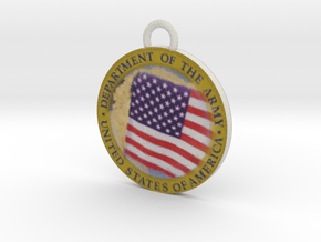 US Army Seal in Full Color Sandstone