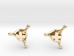 PositiveXSplash stud earrings in 14k Gold Plated Brass