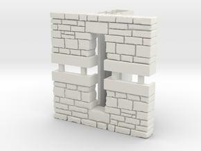 HO PEIR Single Stone Culvert in White Natural Versatile Plastic