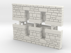 HO PEIR Stone Double Culvert Assy in White Natural Versatile Plastic