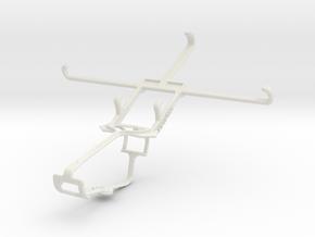 Controller mount for Xbox One & Alcatel Hero 2 in White Natural Versatile Plastic