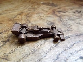 Lotus 77 keyring/pendant in Polished Bronzed Silver Steel