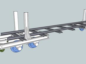 Swivel bolster wagon H0e (4) in Smooth Fine Detail Plastic