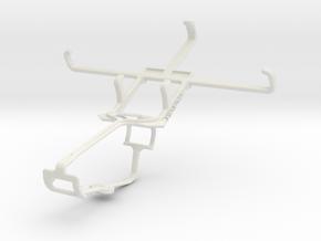 Controller mount for Xbox One & Lava Iris 450 Colo in White Natural Versatile Plastic