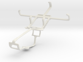 Controller mount for Xbox One & Lava Iris 350m in White Natural Versatile Plastic