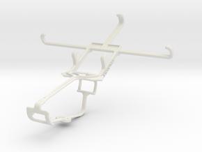 Controller mount for Xbox One & Lava Iris Pro 30+ in White Natural Versatile Plastic